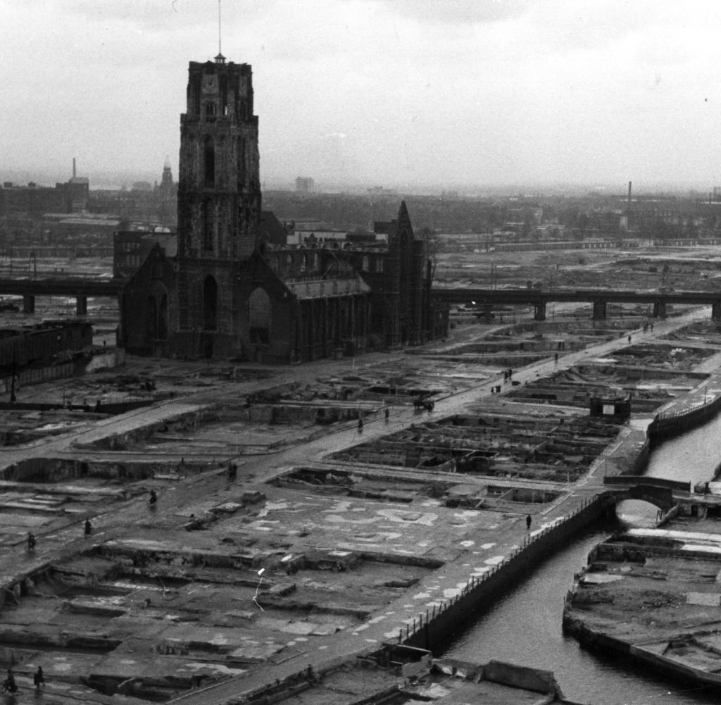 Rotterdam zerstört im 2. Weltkrieg
