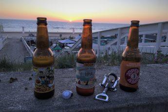 Niederländisches Bier am Meer