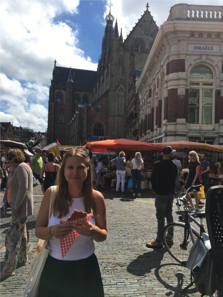 Stroopwafel am Grote Markt in Haarlem